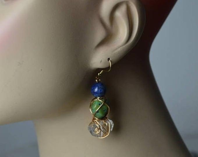 sale Drop Earrings, Lapis Earring, Jade Earring, Crystal Earring, Natural Stones, Mystic Jewelry, Healing Earrings, Natural  Jewerly