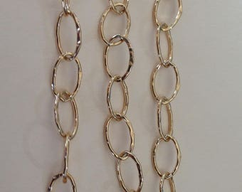 14k Gold Filled Chain, by the Foot, 5.4 mm Charm Chain, Necklace and Bracelet Chain, bulk bracelet unfinished LGF2 LLGF