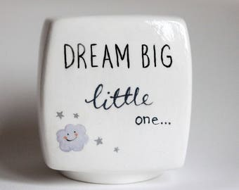 Baby money box etsy personalized hand painted money bank custom piggy bank hand painted baby gift custom negle Image collections