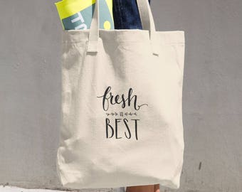 Fresh is Best Market Tote