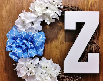 FREE SHIPPING Have a Personalized Wreath Made Just for You!  Welcome Door Grapevine Wreath