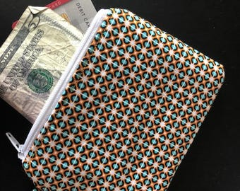 zippered pouch, pouch, geometric shapes, shapes, cardholder, coin purse