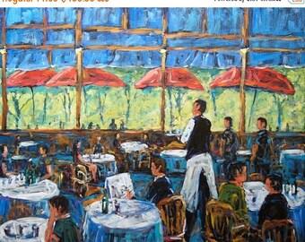 On Sale Impressionist Cafe Large original by Prankearts