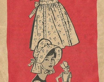 ChristmasinJuly Vintage 60s Mail Order 4764 Misses Prairie Sunbonnet and Coverall Aprons Sewing Pattern Size Medium Bust 34 36