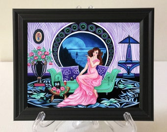 Art Print, Mucha Prints, Alfonse Much Art, Art Deco Print, Miniature Print, Small Framed Print, Home Decor