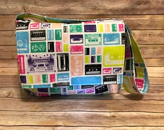Cassette Tape Print Diaper Bag