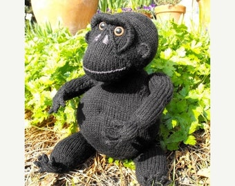 40% OFF SALE Instant Digital File pdf download knitting pattern - Malcolm Monkey toy animal pdf download knitting pattern