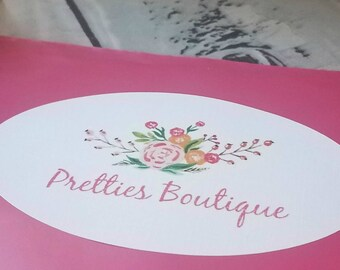 Made to Order CUSTOM labels stickers branding oval I design the stickers for you logo stickers are a must for all small biz owners