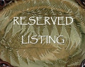Reserved for Jan - Customized addition to oak leaf plate