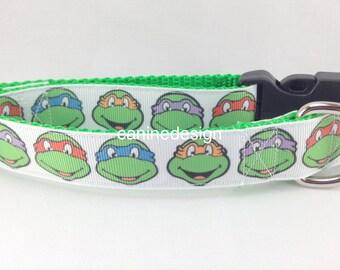 Dog Collar, Teenage Mutant Ninja Turtles, 1 inch wide, adjustable, small, 11-14 inches