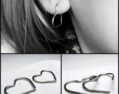 Coeur de hoop boucles d'oreilles Valentine day cadeau pour boucles d'oreilles dormeuses coeur de femme coeur Cartilage créoles coeur boucles d'oreilles créoles en acier de cadeau pour elle