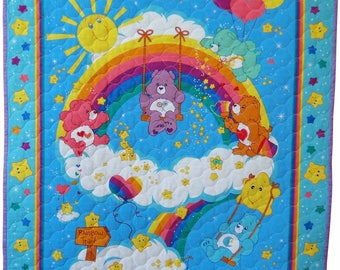 Rainbow Care bear Quilt