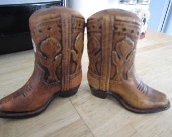 Ceramic Cowboy Boots Salt and Pepper Shakers