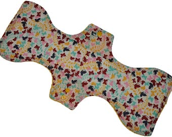 Moderate Core- Pastel Butterflies Reusable Cloth Goddess XL/Postpartum Pad- 16.5 Inches