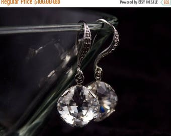 ON SALE Bridesmaid Jewelry Set of 5 Square Crystal Wedding Earrings