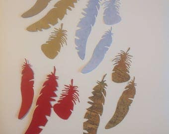 Die Cut Feathers - Pkg of 12
