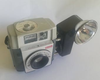 Kodak Brownie Camera Starmeter w Flash 60s Vintage 127 Film
