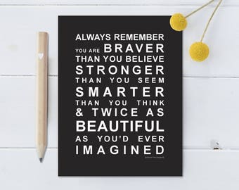 Always Remember - You are Beautiful - Large Fridge Magnet