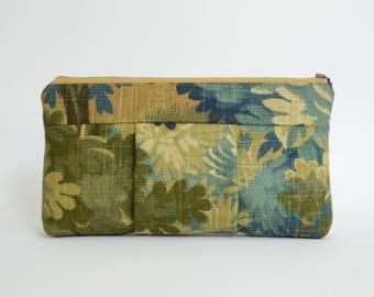 Nana forest print linen Sophie clutch