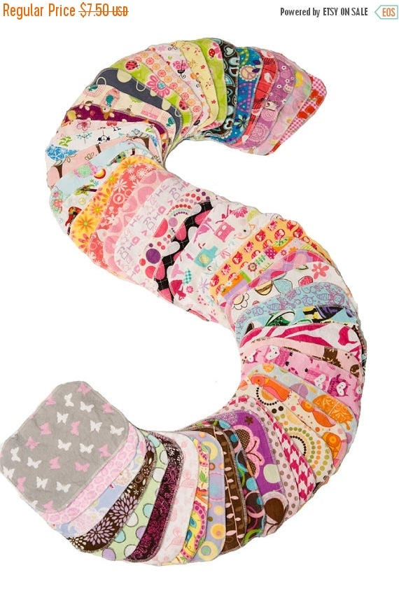 On Sale Sweet Bobbins Cloth Wipes - Girls Mixed Print Mini-Starter Set - 6wipes - flannel and OBV - SOFT - 6x8 size