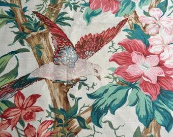 Tropical Bird Upholstery Fabric - Jonelle Duracolour Catalina - 58 x 42