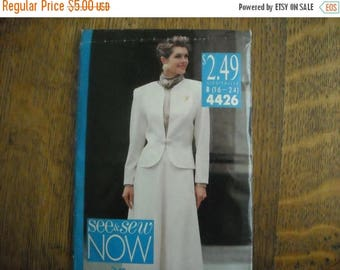 Sale See & Sew Now 4426 size 16-24 Jacket and Skirt Pattern