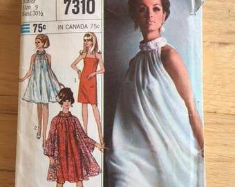 Simplicity 7310 Summer Tent Dress Pattern - Size 9