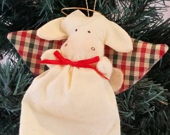 Cow Angel Christmas Ornament
