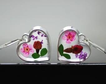 925 silver earrings - Bouquet of flowers