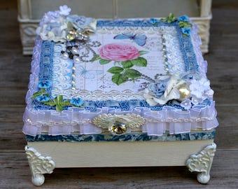 Handmade Keepsake Box, Jewelry Box, Wedding Box