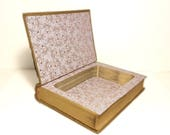 Hollow Book Safe Eighteenth Century Poetry And Prose Cloth Bound vintage Secret Compartment Keepsake Box Hidden Security Box