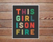 girl on fire with expedited shipping
