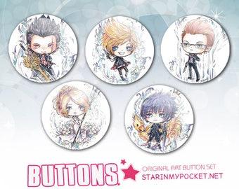 Final Fantasy XV Buttons Set