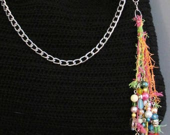 BOHO Beaded Purse KeyChain