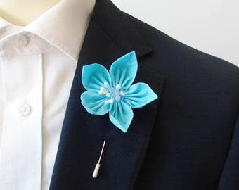 Azure Blue Lapel Pin