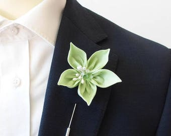 Lime Green Lapel Pin