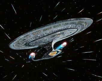Star Trek Enterprise D Limited Edition Art Print