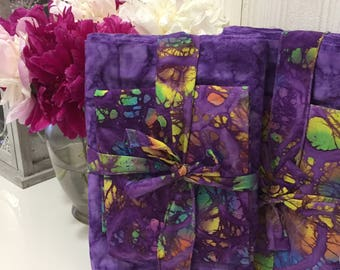 Purple Batik Benkung Belly Binding for Postpartum Mothers