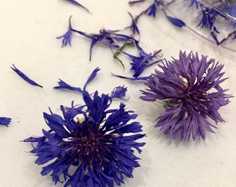 Dried Cornflowers, Dried Flowers, Dry Bachelor Buttons, Wedding Confetti, Craft Supply, Real Flowers, Blue Petals, Blue Flowers