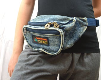 Vintage 80s Denim Everest Fanny Pack