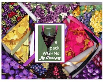 8 Prize Winning Bikini Style Wine Glass Holder Necklaces By Oceanpeg -  Assorted WGHNs.