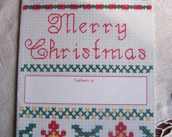 Vintage Merry Christmas Cross Stitch Patterns Promotional Booklet by Designs by Gloria & Pat 1995
