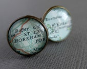 Personalised Map Cufflinks for Leanne - UK and USA