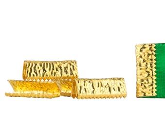 500pcs. 16mm or 5/8 inch Gold No Loop Ribbon Clamp End Crimps - Artisan Series