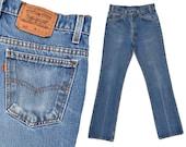 70s Vintage Levis Jeans Orange Tab Distressed Levis 517 Jeans Slim Fit Dark Denim Levi Jeans Boot Cut Jeans Levi 517 Mens Levi Jeans 30 x 32