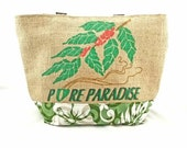Large Tote - Kona Coffee Recycled Tote Bag - Ready to ship