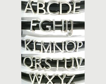Antique Silver Regaliz® Letters of the Alphabet