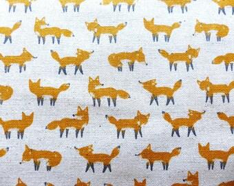 1 yard - Little Fox, Kokka  Japanese import