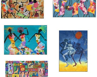 Greeting cards - set H - beautiful high quality fine art cards - all from original art