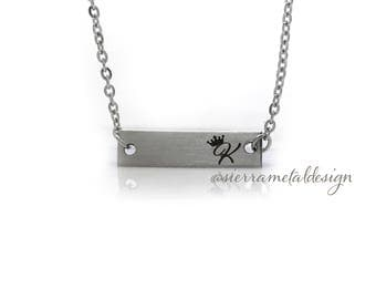 Little Girl Initial Bar Necklace Bar Necklace Jewelry Bar Necklace For Little Girl For Her For Daughter Birthday Christmas
